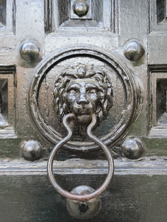knocker: Lion dook knocker
