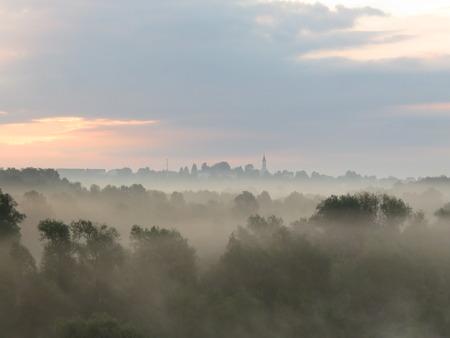 Foggy Nature Stock Photo