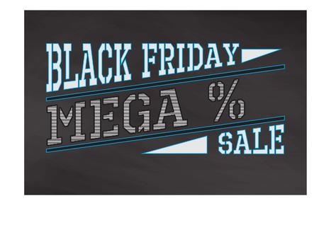 Black friday label Ilustrace