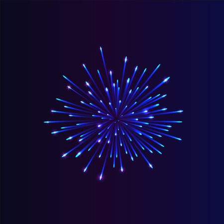 an outburst: Abstract firework bursting. brightly colorful firework on night background