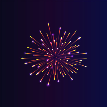 gladness: Abstract firework bursting. brightly colorful firework on night background