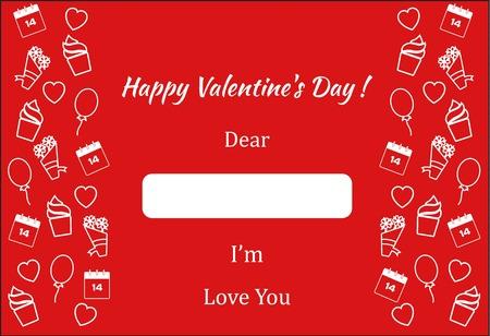 Valentine's Day poster present and romantic card Reklamní fotografie - 70294640