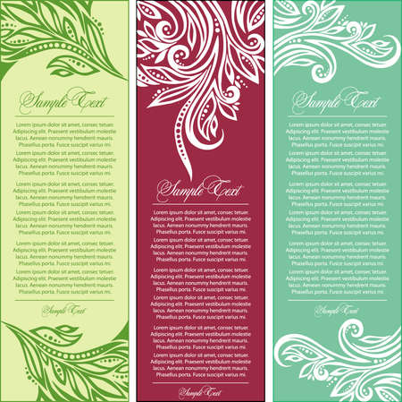 set of greeting cards Stock Vector - 8454621