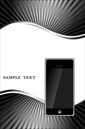 abstract background with phone Vector