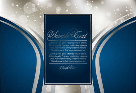 abstract greeting silver card Vector