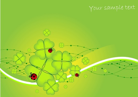 abstract st Patrick day card Vector