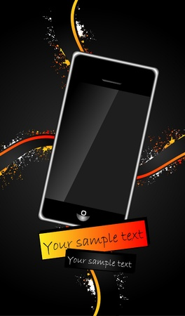 abstract stylish background with phone Stock Photo - 9477802