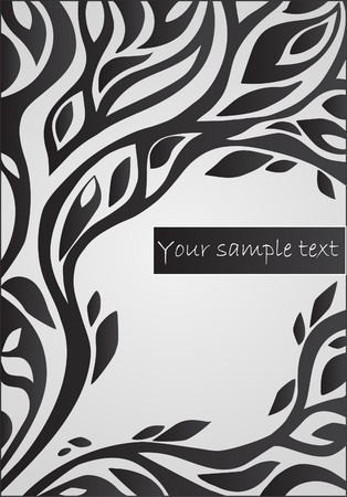 stencil art: background with floral  pattern