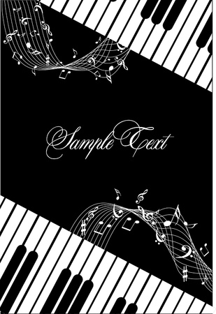 music sheet: background with Music notes Illustration