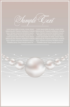 background with realistic vector pearls Stock Vector - 9477692