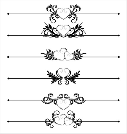Decorative Elements with hearts