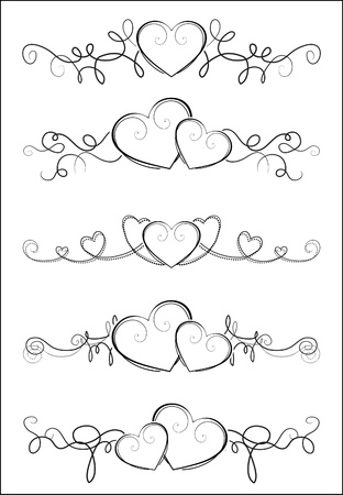 Elegant valentine design Illustration