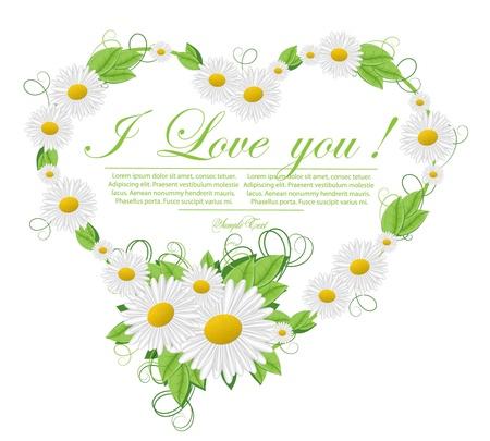 green environment: floral heart