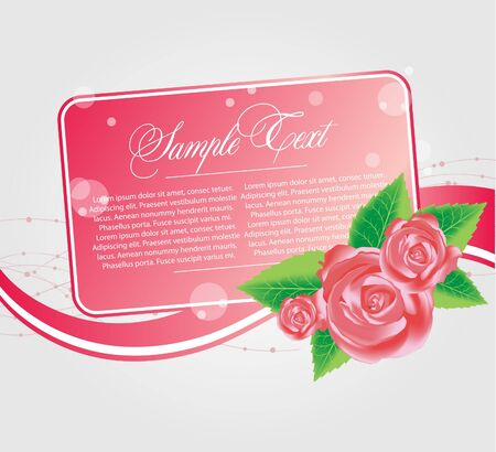 floral cards templates with rose Stock Vector - 9477807