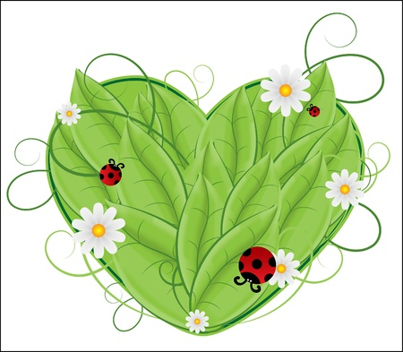 leaf insect: floral heart
