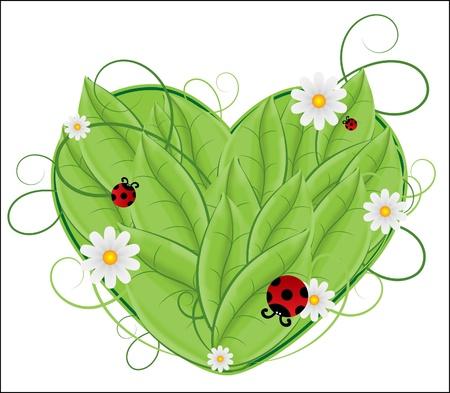 macro leaf: floral heart