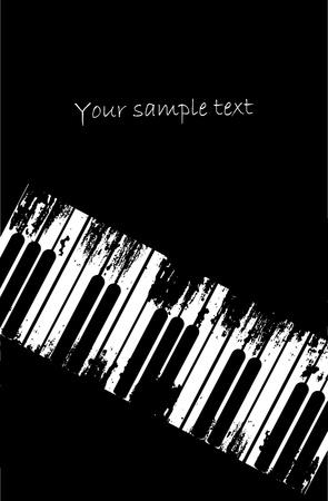 acustica: Design musica grunge Vettoriali
