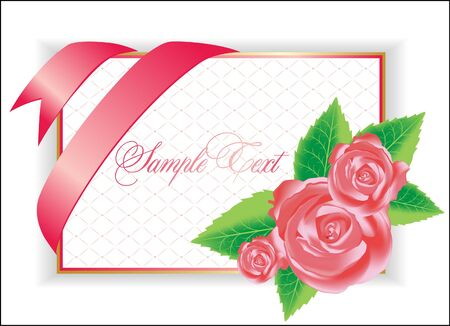 illustration with pink rose Stock Vector - 9477833