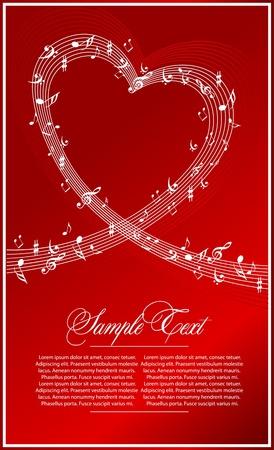 iconos de música: fondo rojo abstracta de m�sica