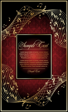 classical music: music vintage  background Illustration