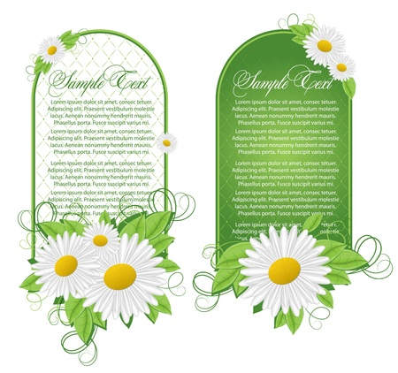 perennial: Vector set of floral banners Illustration