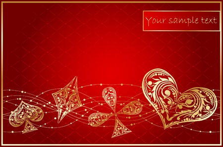 background with card suits Vector