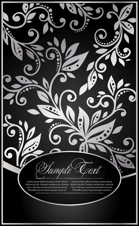 flourishes: background with the floral pattern Illustration