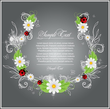 beauty branch with flower Stock Vector - 9540332
