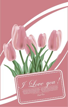 floral background for decoration with Tulip Vector