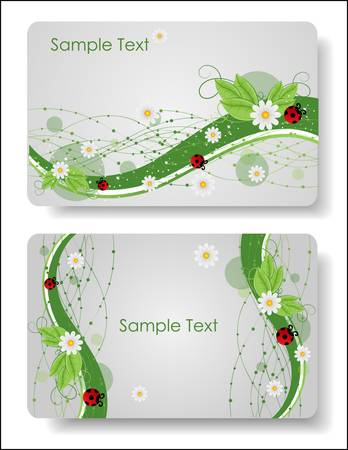 floral cards templates Stock Vector - 9540517