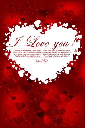 valentines day red poster Vector