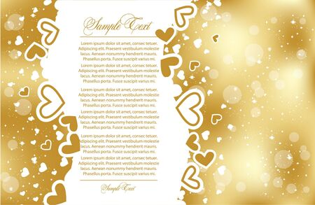 vector greeting gold card