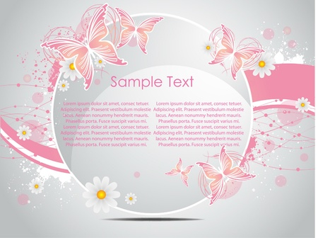 vector nature  background with butterfly