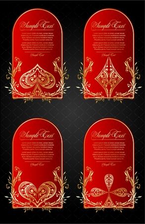 Vector set of  card suits Vector