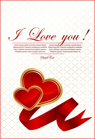 Vector Valentine`s day card Vector