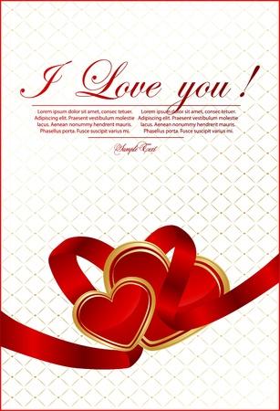 Vector Valentine `s tarjeta del día