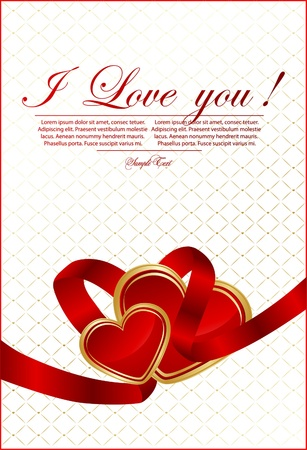 st valentine: Vector Valentine `s tarjeta del d�a