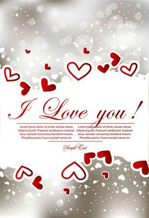 abstract greeting card Illustration