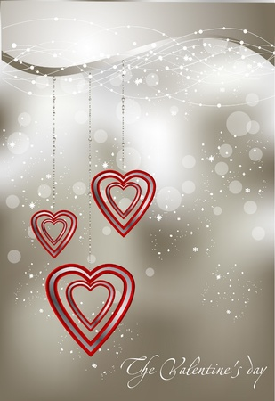 abstract illustration with hearts Vector