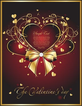 beauty  valentine card Stock Vector - 10334396