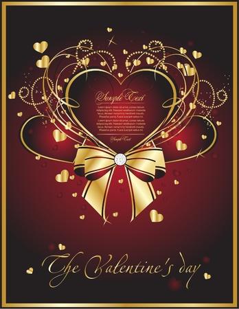 aniversario: tarjeta de San Valent�n de belleza