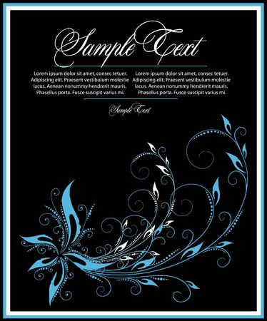blue abstract  flower Stock Vector - 10334245