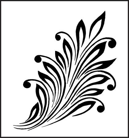 swirly: decorative element for artwork