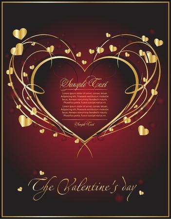 valentine card for decor Vector