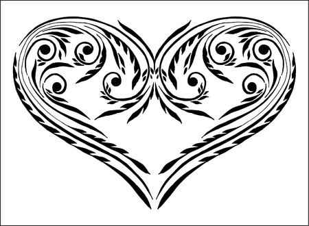 beauty heart Vector