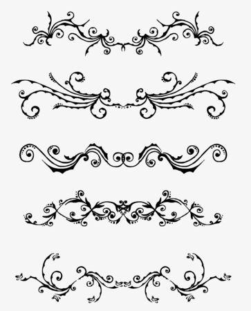 header image: 5 sets of decorative ornaments