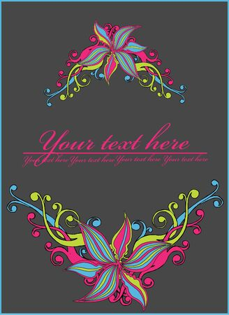 abstract  floral frame. Stock Vector - 10351986
