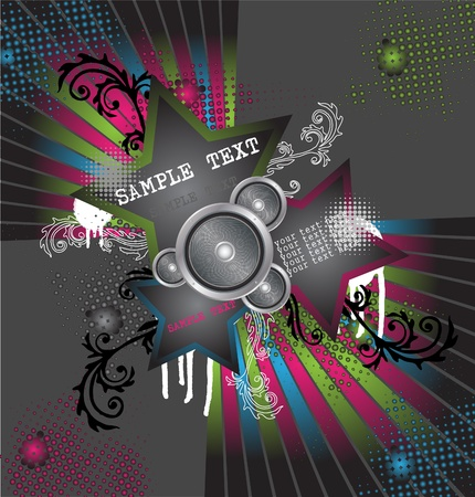 abstract disco background Stock Vector - 10352163