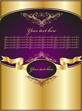 royal invitation: background for decoration Illustration