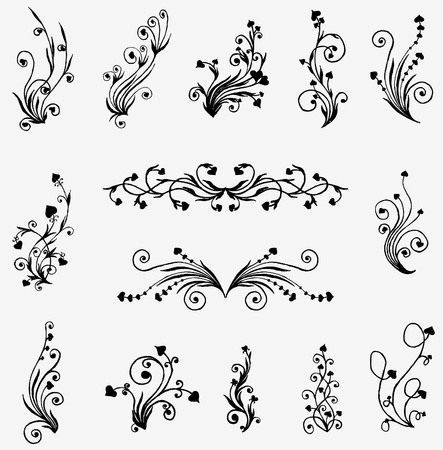 black elements for design Stock Vector - 10351829